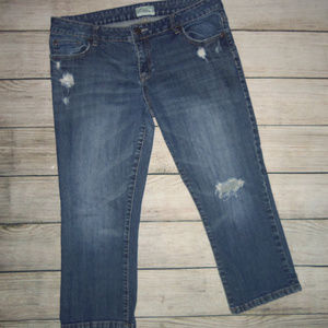 Aeropostale Distressed Cropped Jeans 13/14